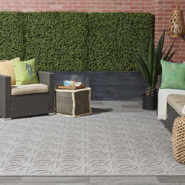 Cozumel Indoor/Outdoor Rugs in Light Grey CZM01
