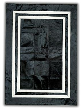 Patchwork Leather Cubed Cowhide - SR1 Black & White