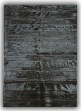 Patchwork Leather Cowhide - ST9 Black Stripes