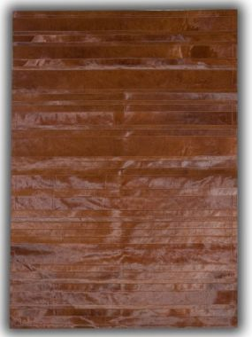 Patchwork Leather Cowhide - ST9 Brown Stripes