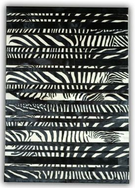Patchwork Leather Cowhide - ST-T-74 Zebra Stripes