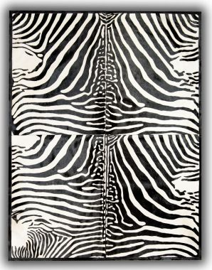 Patchwork Leather Cubed Cowhide - Zebra Print 4 Pieces