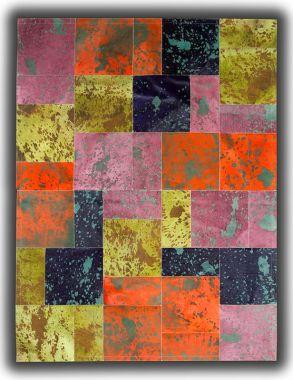Patchwork Leather Cowhide - Acid Colours AC1