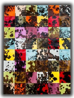 Patchwork Leather Cubed Colours