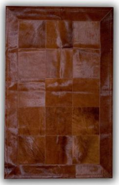 Patchwork Leather Cubed Dyed Brown