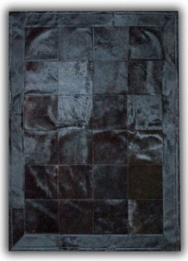 Patchwork Leather Cubed Dyed Black