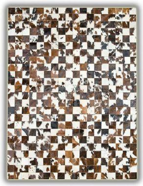 Patchwork Leather 10cm x 10cm Cubed Cowhide