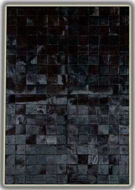 Patchwork Leather Cubed Cowhide - Black