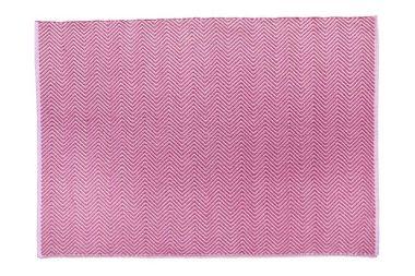 Hug Rug Woven Herringbone - Coral Pink