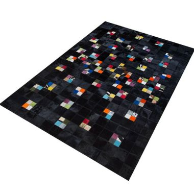 Patchwork Leather Black Multi