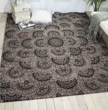 Nourison 2000 - 2335 Black/Grey