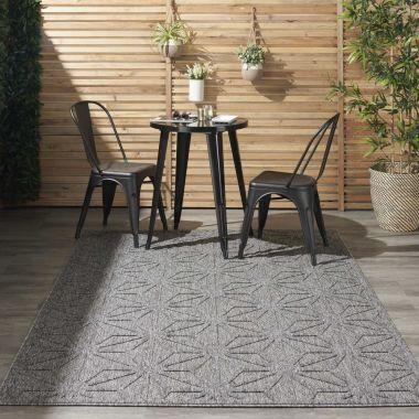 Cozumel Indoor/Outdoor Rugs in Dark Grey CZM01