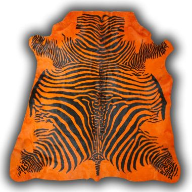 Zeb-Tastic Zebra Rugs - Orange & Black
