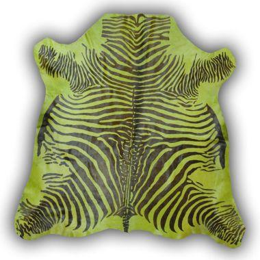 Zeb-Tastic Zebra Rugs - Green & Black