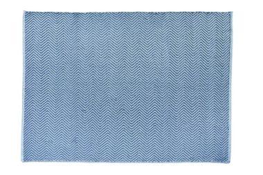 Hug Rug Woven Herringbone - Denim Blue