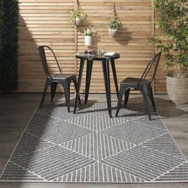Cozumel Indoor/Outdoor Rugs in Dark Grey CZM05