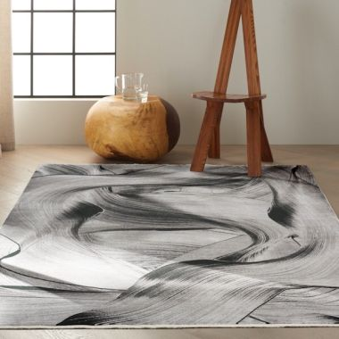 Calvin Klein Balian Rug in Grey Black CK53