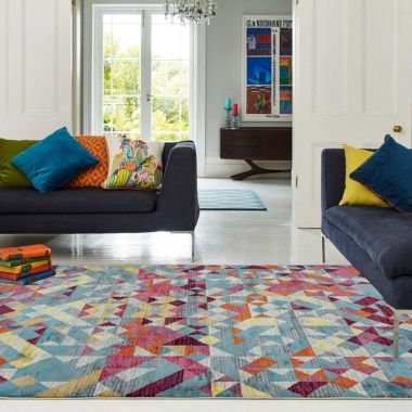 Amelie AM11 Rhombus Multi Rugs