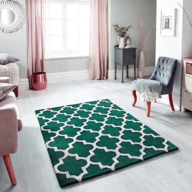 Emerald Green & Ivory - Arabesque