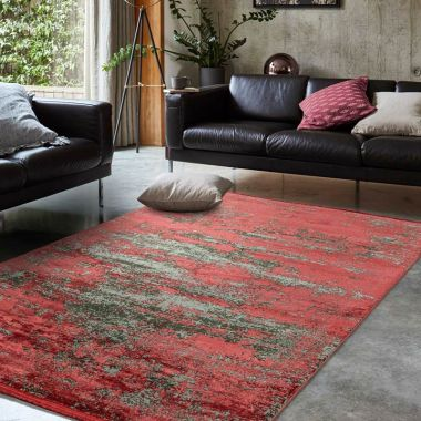 Athera AT06 Ruby Red Distressed Rugs
