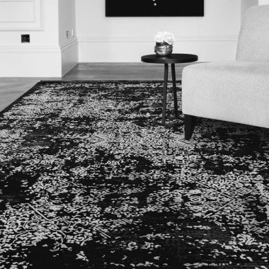 Athera AT07 Black Persian Distressed Rugs