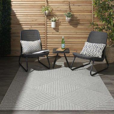 Cozumel Indoor/Outdoor Rugs in Light Grey CZM05
