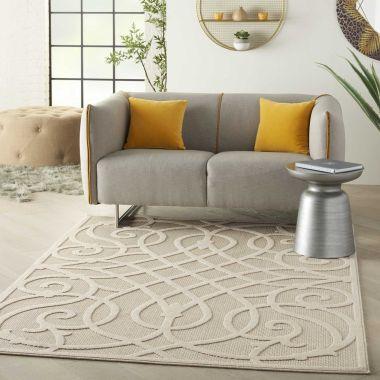 Cozumel Indoor/Outdoor Rugs in Cream CZM04