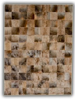 Patchwork Leather Cubed  Blesbok Pieces