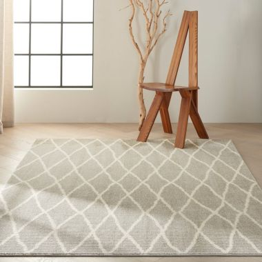 Calvin Klein Pacific Rug in Grey / Ivory CK902