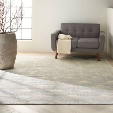 Calvin Klein Pacific Rug in Grey / Ivory CK903