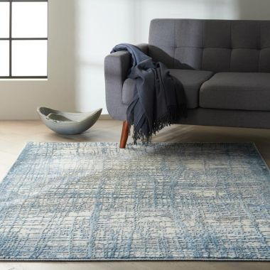 Calvin Klein Rush Rugs in Ivory / Blue CK950