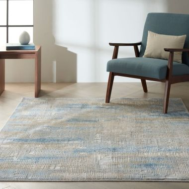 Calvin Klein Rush Rugs in Blue / Beige CK951
