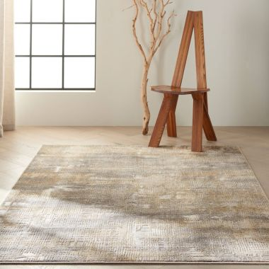 Calvin Klein Rush Rugs in Grey / Beige CK951