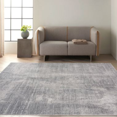 Calvin Klein Vapor Rugs in Grey / Ivory CK970