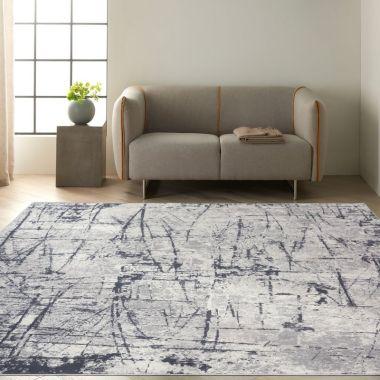 Calvin Klein Vapor Rugs in Ivory / Grey CK972