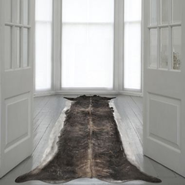 Mineheart - Super Long Stretched Cowhide Rug in Natural Brown