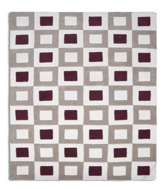 Cubed Off White & Brown