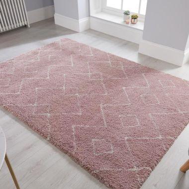 Dakari Imari Modern Rugs in Pink