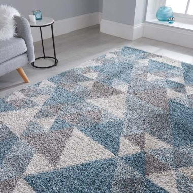 Dakari Nuru Geometric Rugs in Blue