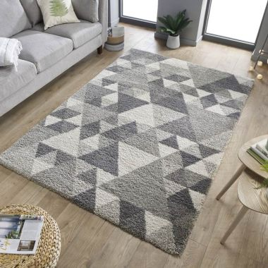 Dakari Nuru Geometric Rugs in Grey