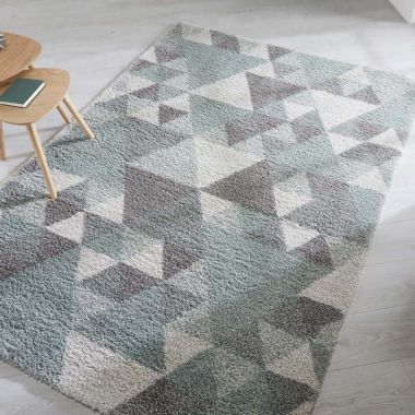 Dakari Nuru Geometric Rugs in Mint Green