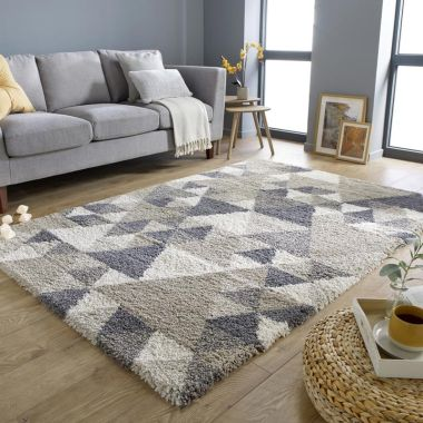 Dakari Nuru Geometric Rugs in Natural