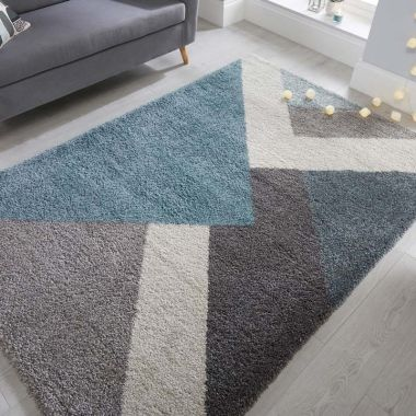 Dakari Zula Geometric Rugs in Blue