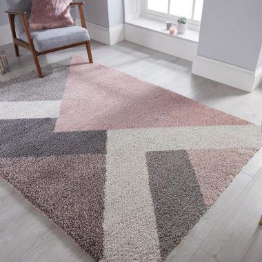 Dakari Zula Geometric Rugs in Pink