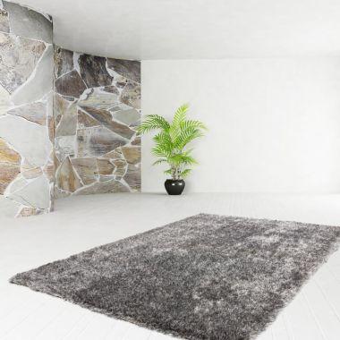 Diamond Shag - Grey White
