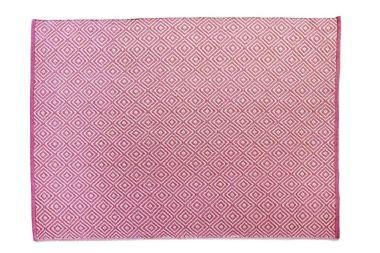 Hug Rug Woven Diamond - Coral Pink
