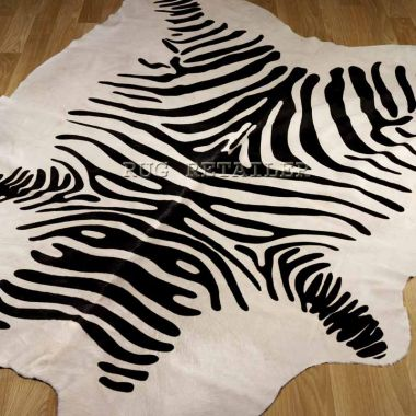 Cowhide - Zebra Black & White (printed)