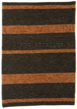 Jute - Charcoal Red Stripe