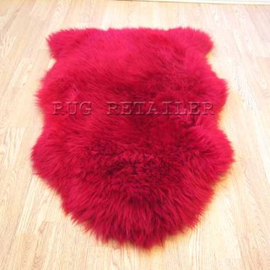 Sheepskin In Red