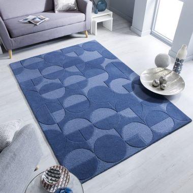 Moderno Gigi Denim Blue Rugs